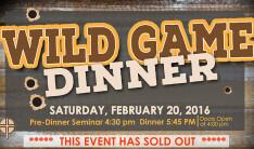 Wild Game Dinner 2016