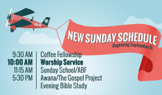 new sunday schedule