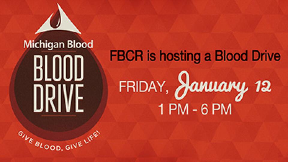 1 PM Michigan Blood Drive