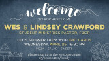 6:30 PM Crawford Welcome Dinner