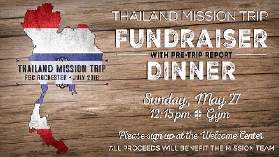 11:15 AM First Family Fellowship (Thailand Fundraiser)