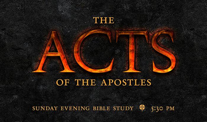 Sunday evening Bible study